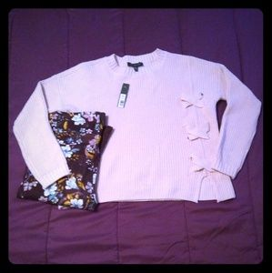 NWT The Limited Pale Pink Semi-Cropped Sweater